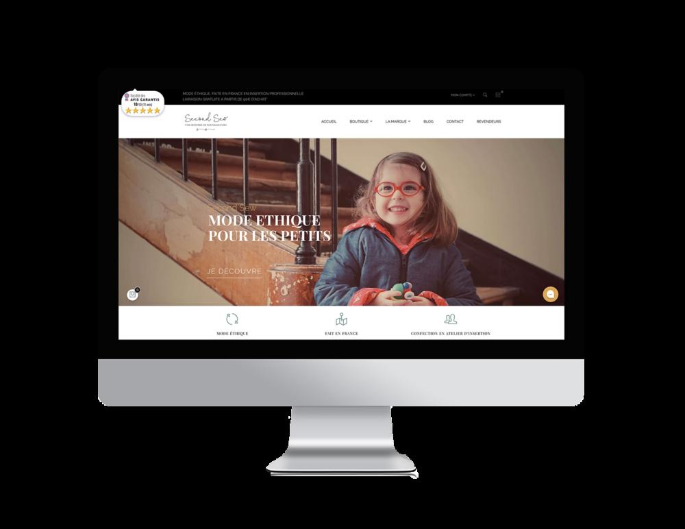 Site e-commerce Second Sew réalisé par les apprenants de Label École, école e-commerce inclusive, Label Emmaüs, Label Touche