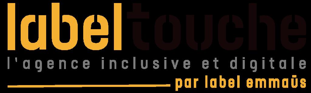 Logo Label Touche agence inclusive et digitale par Label Emmaüs, Label École, Trëmma