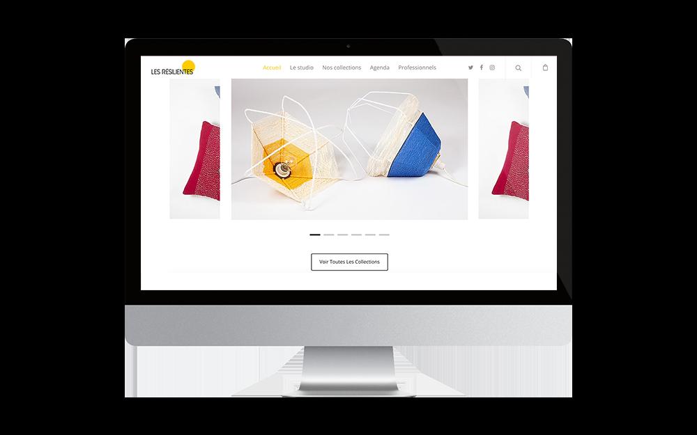 Site e-commerce Les Résilientes réalisé par les apprenants de Label Ecole, école e-commerce inclusive
