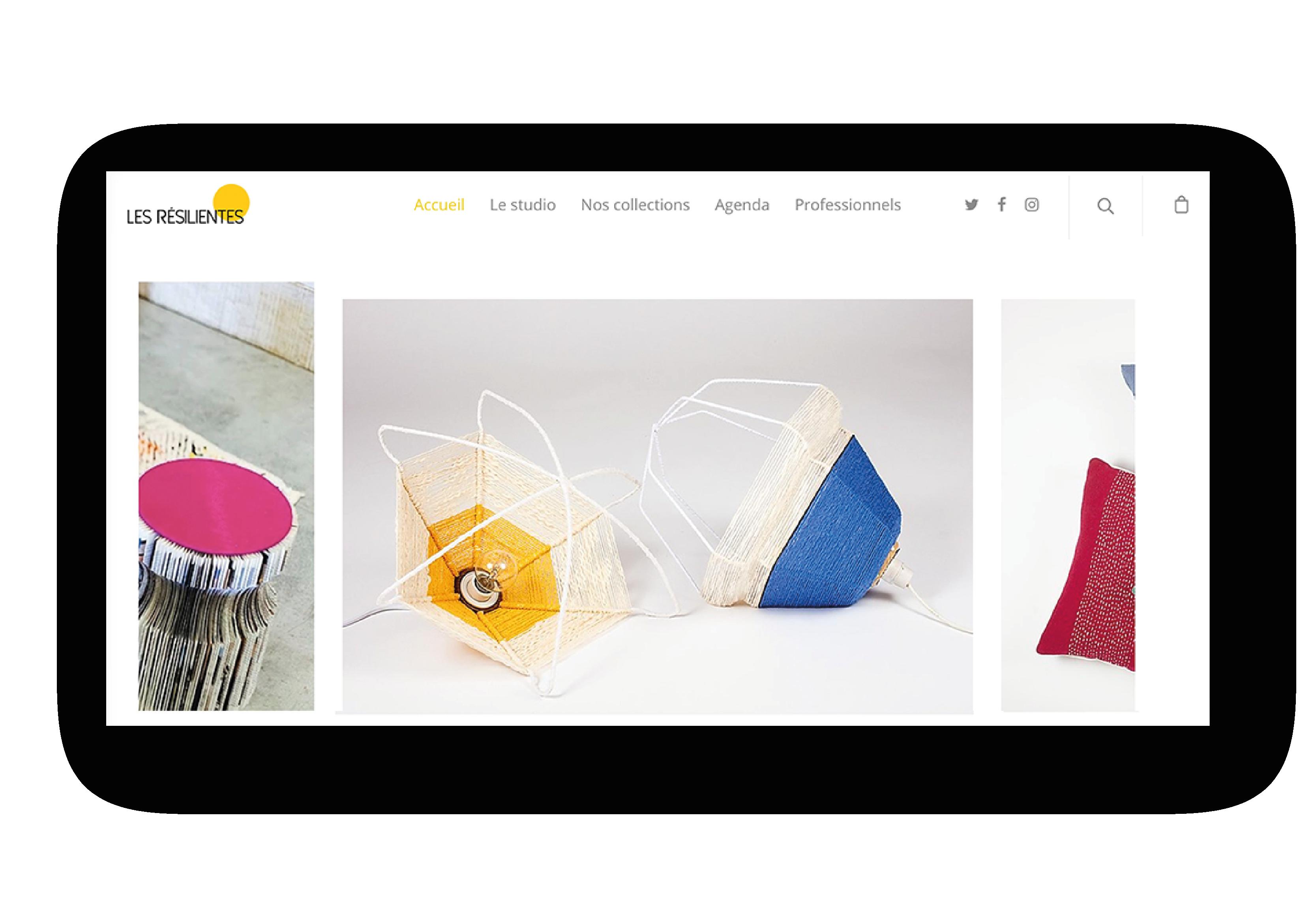 Site e-commerce Les Résilientes réalisé par Label Touche