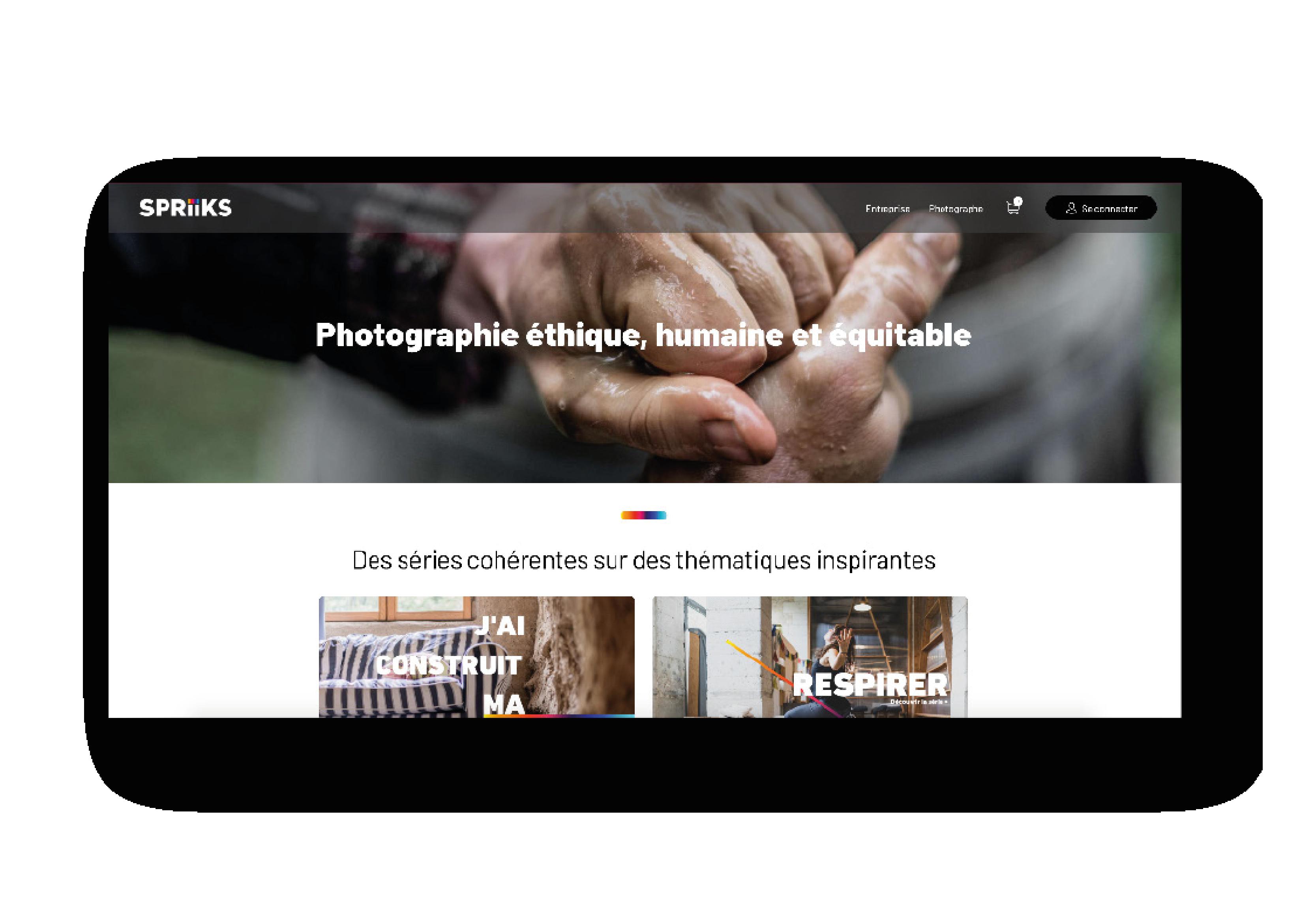Site e-commerce Spriiks réalisé par Label Touche